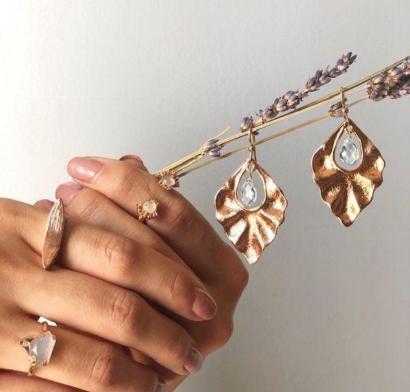 Kristen Dorsey Designs - Chickasaw gold earrings
